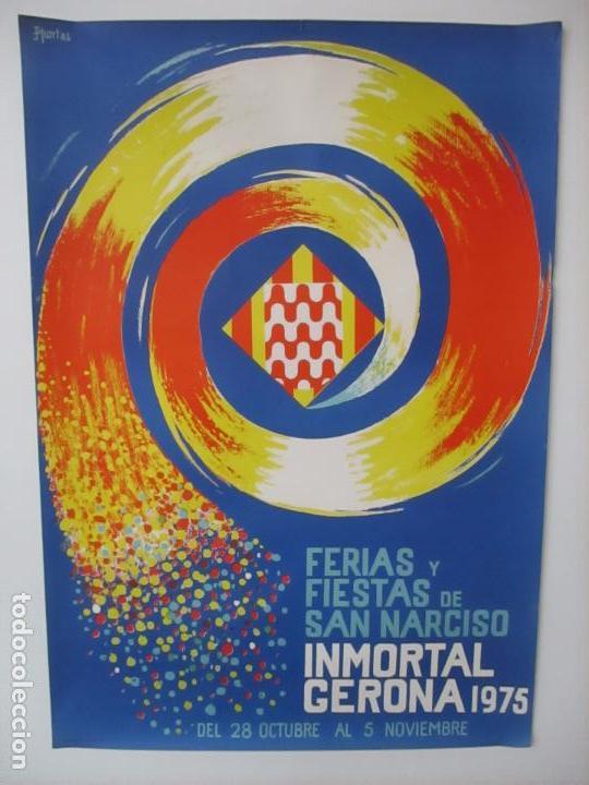 Carteles Feria: Gran Cartel - Ferias y Fiestas de San Narciso - Inmortal Gerona (Girona) - 70x100 - Año 1975 - Foto 10 - 100590671