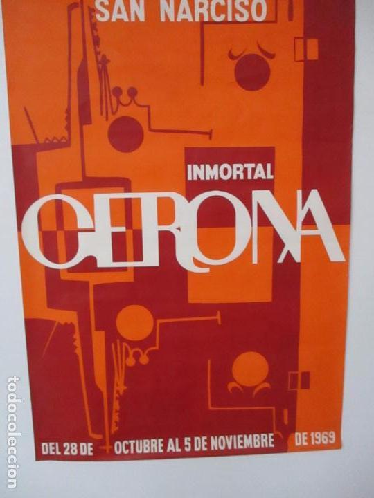 Carteles Feria: Gran Cartel - Ferias y Fiestas de San Narciso - Inmortal Gerona (Girona) - 68x100 - Año 1969 - Foto 3 - 100614987