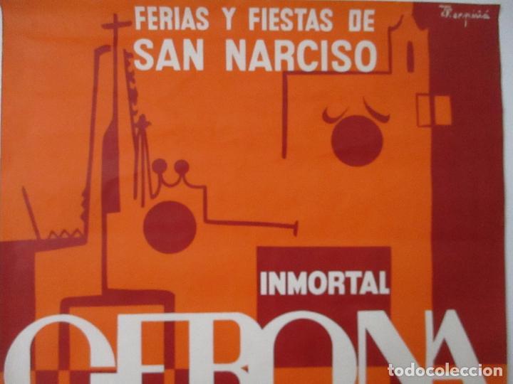 Carteles Feria: Gran Cartel - Ferias y Fiestas de San Narciso - Inmortal Gerona (Girona) - 68x100 - Año 1969 - Foto 5 - 100614987