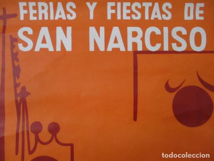 Carteles Feria: Gran Cartel - Ferias y Fiestas de San Narciso - Inmortal Gerona (Girona) - 68x100 - Año 1969 - Foto 6 - 100614987