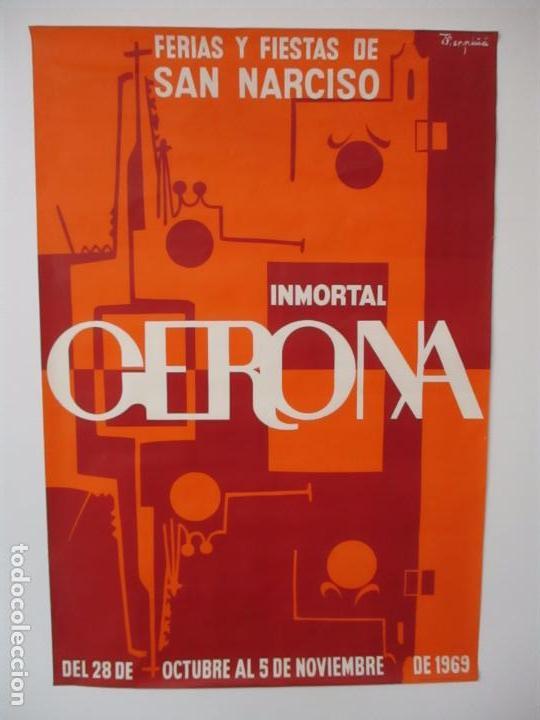 Carteles Feria: Gran Cartel - Ferias y Fiestas de San Narciso - Inmortal Gerona (Girona) - 68x100 - Año 1969 - Foto 10 - 100614987