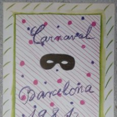 Carteles Feria: CARTEL CARNAVAL BARCELONA 1981. DISEÑO MARIA GIRONA 66 X 49 CM (APROX). Lote 101352527