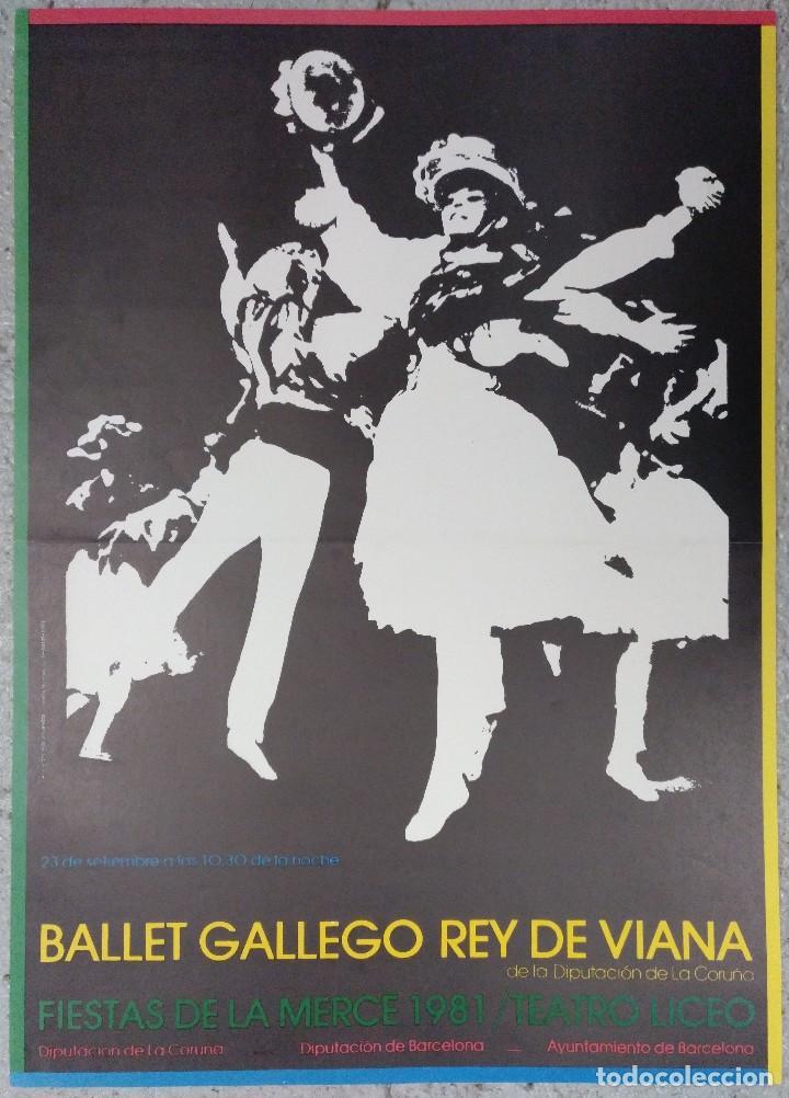 CARTEL BALLET GALLEGO REY DE VIANA FIESTAS DE LA MERCED 1981 LICEO BARCELONA (Coleccionismo - Carteles Gran Formato - Carteles Ferias, Fiestas y Festejos)