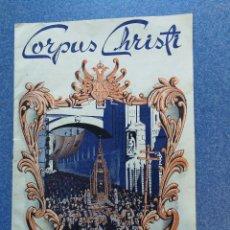 Carteles Feria: PROGRAMA CORPUS CHRISTI TOLEDO 1952. Lote 101431963