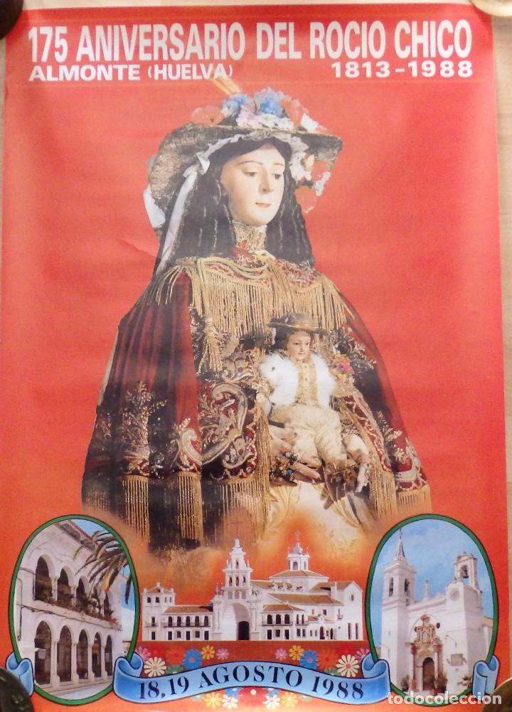 ALMONTE, HUELVA, 1988, CARTEL 175 ANIVERSARIO DEL ROCIO CHICO, 48X68 CMS (Coleccionismo - Carteles Gran Formato - Carteles Ferias, Fiestas y Festejos)