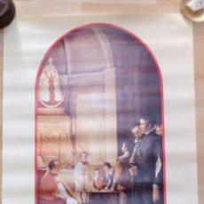 Carteles Feria: ALMONTE, HUELVA,2003, CARTEL 350 ANIVERSARIO PATRONAZGO SANTISIMA VIRGEN DEL ROCIO,48X68 CMS. Lote 101680759