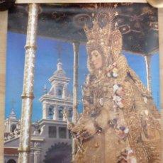 Carteles Feria: ALMONTE, HUELVA, 1986 CARTEL ORIGINAL DE LA ROMERIA DEL ROCIO, 48X68 CMS. Lote 102009039
