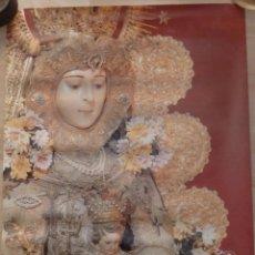 Carteles Feria: ALMONTE, HUELVA, 1989 CARTEL ORIGINAL DE LA ROMERIA DEL ROCIO, 48X68 CMS. Lote 102011091