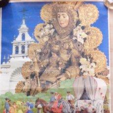 Carteles Feria: ALMONTE, HUELVA, 1990 CARTEL ORIGINAL DE LA ROMERIA DEL ROCIO, 50X70 CMS. Lote 210834411