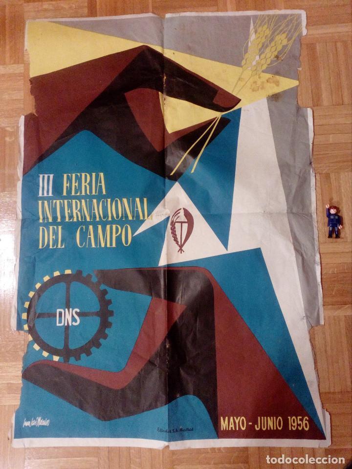 CARTEL LITOGRAFICO, ANTIGUO. AÑO 1956 1M X 69CM.EL ORIGINAL.JUAN JOSE MORALES,EDICOLOR.MADRID. (Coleccionismo - Carteles Gran Formato - Carteles Ferias, Fiestas y Festejos)
