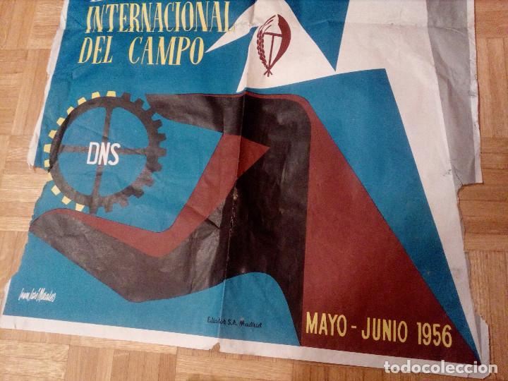 Carteles Feria: CARTEL LITOGRAFICO, ANTIGUO. AÑO 1956 1m x 69cm.EL ORIGINAL.JUAN JOSE MORALES,EDICOLOR.MADRID. - Foto 4 - 103171247