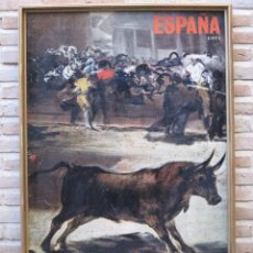 Carteles Feria: ESPAÑA-GOYA - REPRODUC. CARTEL GRANDE TOROS / TAUROMAQUIA. COLOR. 1,05 MTS. ALTO Y 0,652 MTS. ANCHO.. Lote 103931879