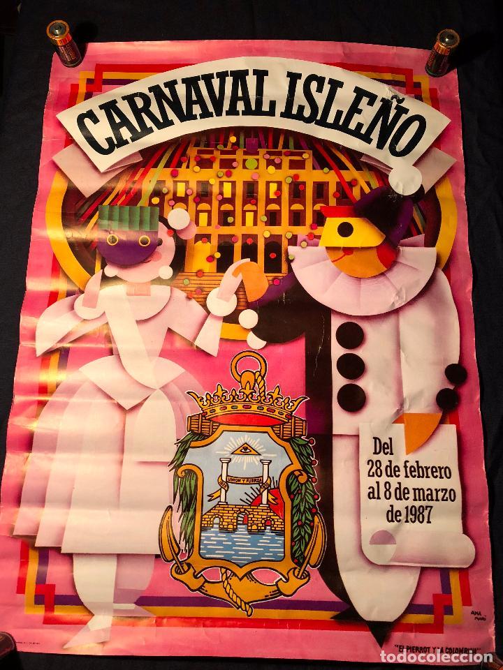 CARTEL CARNAVAL ISLEÑO AÑO 1987 SAN FERNANDO CADIZ (Coleccionismo - Carteles Gran Formato - Carteles Ferias, Fiestas y Festejos)
