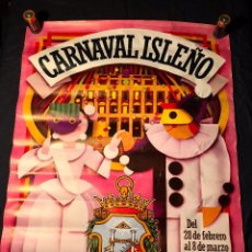 Carteles Feria: CARTEL CARNAVAL ISLEÑO AÑO 1987 SAN FERNANDO CADIZ. Lote 104641847
