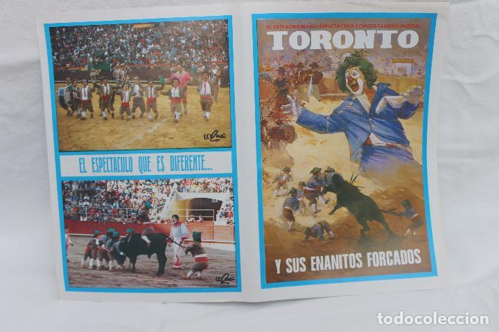 PLAZA DE TOROS DE LORCA - MARZO 1990-TORONTO Y SUS ENANITOS FORCADOS (Coleccionismo - Carteles Gran Formato - Carteles Ferias, Fiestas y Festejos)