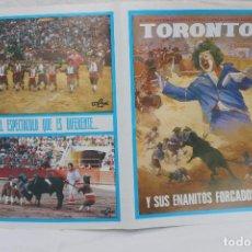 Carteles Feria: PLAZA DE TOROS DE LORCA - MARZO 1990-TORONTO Y SUS ENANITOS FORCADOS. Lote 104820195