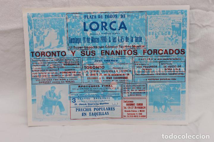 Carteles Feria: PLAZA DE TOROS DE LORCA - MARZO 1990-TORONTO Y SUS ENANITOS FORCADOS - Foto 2 - 104820195