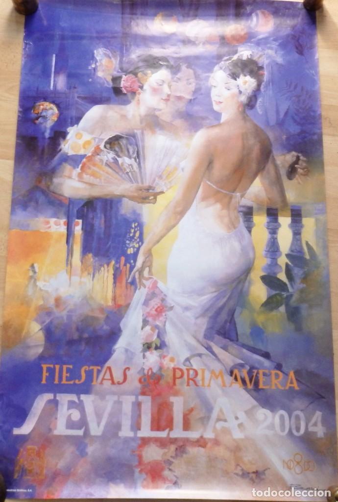 SEVILLA, 2004, CARTEL FIESTAS DE PRIMAVERA, 61X98 CMS (Coleccionismo - Carteles Gran Formato - Carteles Ferias, Fiestas y Festejos)