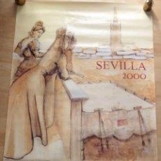 Carteles Feria: SEVILLA, 2000, CARTEL DE FIESTAS DE PRIMAVERA, PINTADO POR RICARDO SUAREZ, 64X98 CMS. Lote 104865127