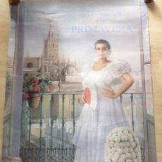 Carteles Feria: SEVILLA, 1997, CARTEL DE FIESTAS DE PRIMAVERA, PINTADO POR ANTONIO ZAMBRANA,62X102 CMS. Lote 104865319