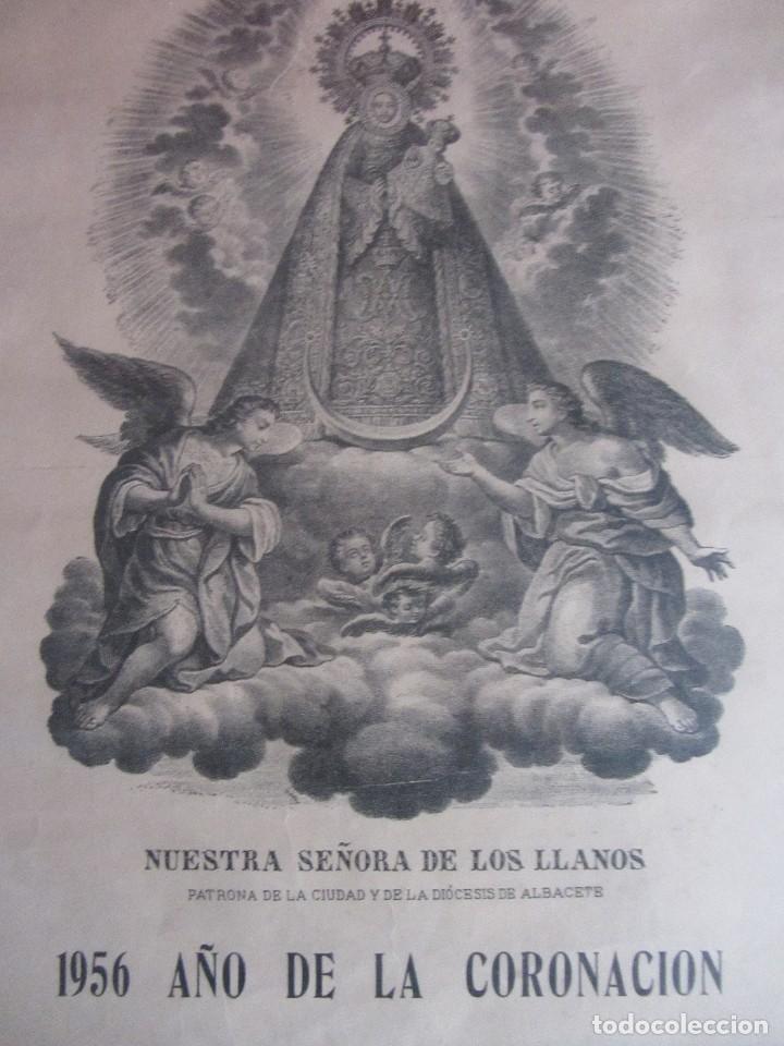 Carteles Feria: NUESTRA SEÑORA DE LOS LLANOS. 1956 AÑO DE LA CORONACIÓN. ¡ALBACETE POR SU PATRONA! - Foto 2 - 105113887