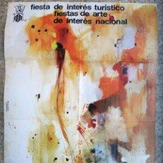 Carteles Feria: CARTEL FALLAS DE VALENCIA , 1975 , ILUSTRADOR SERRA CORTES , ORIGINAL , B6. Lote 105196043