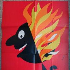 Carteles Feria: CARTEL FALLAS DE VALENCIA , 1986 , ILUSTRADORA CAROLINA B. , ORIGINAL , B6. Lote 105196139