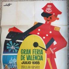 Carteles Feria: CARTEL FERIA DE VALENCIA , 1965 , ILUSTRADOR NIETO , ORIGINAL , B6. Lote 105196619