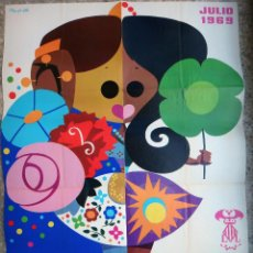 Carteles Feria: CARTEL FERIA DE VALENCIA , 1969 , ILUSTRADOR LLOPIS , ORIGINAL , B6. Lote 105197415
