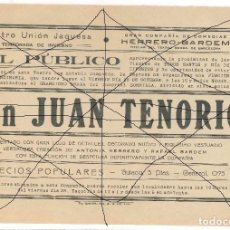 Carteles Feria: TEATRO UNION JAQUESA DON JUAN TENORIO . Lote 105832595