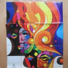 Carteles Feria: CARTEL FIESTAS, FALLAS VALENCIA, 1971, FIESTAS DE INTERES TURISTICO, ALVARO, CF19. Lote 105925987