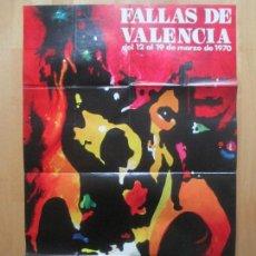 Carteles Feria: CARTEL FIESTAS, FALLAS VALENCIA, 1970, FIESTAS DE INTERES TURISTICO, PACO, CF20. Lote 105926943