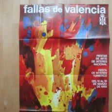 Carteles Feria: CARTEL FIESTAS, FALLAS VALENCIA, 1969, FIESTAS DE INTERES TURISTICO, MESTRE, CF21. Lote 105927195