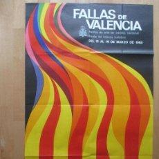 Carteles Feria: CARTEL FIESTAS, FALLAS VALENCIA, 1968, FIESTAS DE INTERES TURISTICO, MESTRE, CF22. Lote 105927591