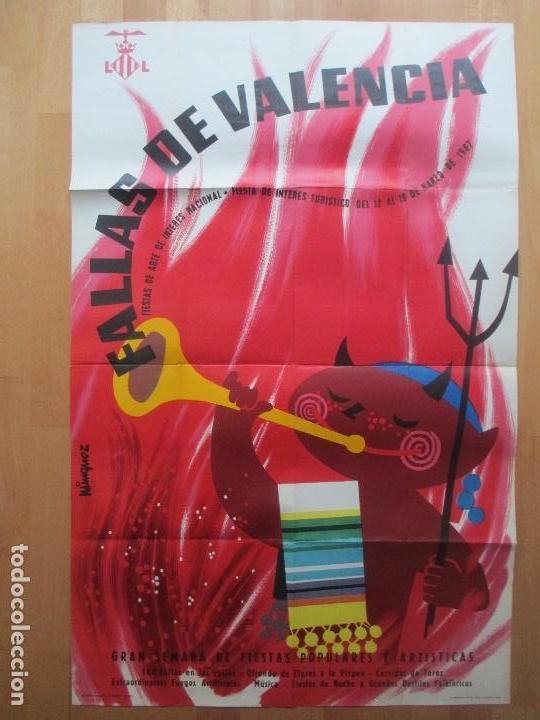CARTEL FIESTAS, FALLAS VALENCIA, 1967, FIESTAS DE INTERES TURISTICO, MINGUEZ, CF23 (Coleccionismo - Carteles Gran Formato - Carteles Ferias, Fiestas y Festejos)