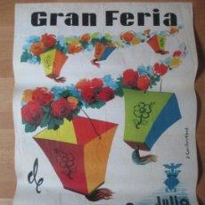Carteles Feria: CARTEL FIESTAS, FERIA VALENCIA, 1963, GRAN BATALLA DE FLORES, S. CARRILERO ABAD, CF32. Lote 105966311