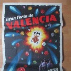 Carteles Feria: CARTEL FIESTAS, FERIA VALENCIA, 1958, GRAN BATALLA DE FLORES, CONTRERAS JUESAS, CF34. Lote 105968519