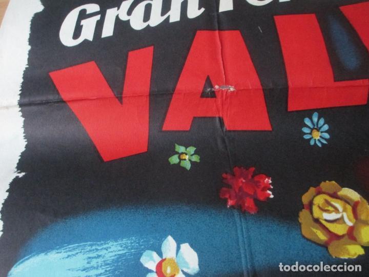 Carteles Feria: CARTEL FIESTAS, FERIA VALENCIA, 1958, GRAN BATALLA DE FLORES, CONTRERAS JUESAS, CF34 - Foto 2 - 105968519
