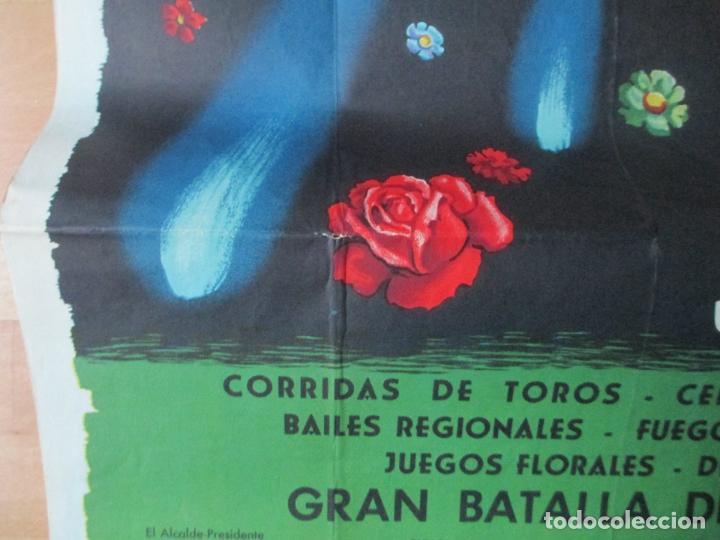Carteles Feria: CARTEL FIESTAS, FERIA VALENCIA, 1958, GRAN BATALLA DE FLORES, CONTRERAS JUESAS, CF34 - Foto 3 - 105968519