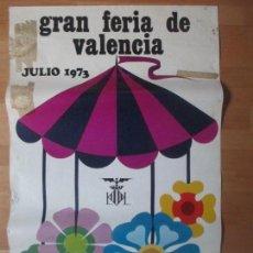 Carteles Feria: CARTEL FIESTAS, FERIA VALENCIA, 1973, GRAN BATALLA DE FLORES, MARIBEL CORTES, CF40. Lote 105969587