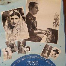 Carteles Feria: CARTEL. CARMEN LINARES. PACO IBAÑEZ. CANCIONES DE GARCIA LORCA. FUENTEVAQUEROS. 1993. Lote 107982663