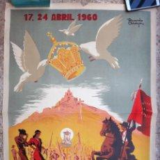 Carteles Feria: CARTEL ANDUJAR 1960 , JAEN, FIESTAS Y ROMERIA NTRA. SRA. DE LA CABEZA, RICARDO ANAYA, ORIGINAL, C2. Lote 173045988