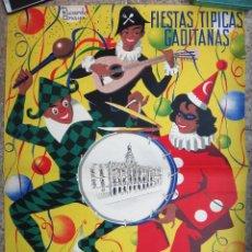 Carteles Feria: CARTEL FERIAS Y FIESTAS GADITANAS , CADIZ , 1965 , RICARDO ANAYA, ORIGINAL, C2. Lote 108819071