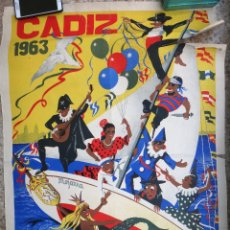 Carteles Feria: CARTEL FERIAS Y FIESTAS GADITANAS , CADIZ , 1963 , RICARDO ANAYA, ORIGINAL, C2. Lote 108819187