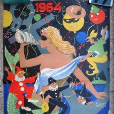 Carteles Feria: CARTEL FERIAS Y FIESTAS GADITANAS , CADIZ , 1964 , RICARDO ANAYA, ORIGINAL, C2. Lote 108819331