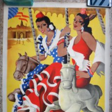 Carteles Feria: CARTEL FERIAS Y FIESTAS DE MAYO , CORDOBA , 1953 , RICARDO ANAYA , ORIGINAL, C3. Lote 108833299