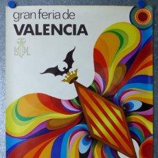 Carteles Feria: GRAN FERIA DE VALENCIA - AÑO 1972 - ILUSTRADO POR PACO. Lote 114333735
