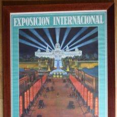 Carteles Feria: CARTEL ART DECÓ EXPOSICIÓN INTERNACIONAL BARCELONA 1929 RIEUSSET S.A BARCELONA ILUSTRACIÓN G AMAT. Lote 108985727