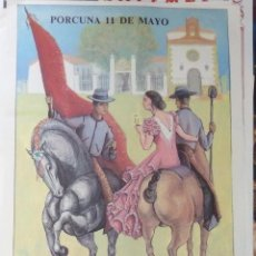 Carteles Feria: PORCUNA, 1986, CARTEL FIESTAS ALHARILLA, 40X56 CMS. Lote 109475611