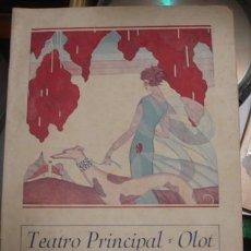 Carteles Feria: TEATRO PRINCIPAL OLOT 1945 - PORTAL DEL COL·LECCIONISTA . Lote 109528343